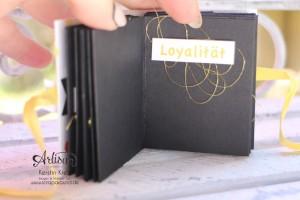 """Stampin´ Up! Artisan DesignTeam BlogHop 02.07.2015 Minibook One-Sheet-Wonder Album mit Dekoschablone """"Nach Lust und Laune"""" und Stempelset """"Endless Thanks""""  Detailbild05"""