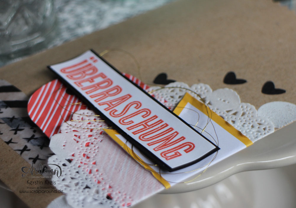 """Stampin´ Up! Artisan DesignTeam BlogHop 23.07.2015 Verpackungsideen mit Geschenktüten """"schnelle Überraschung"""" und """"Tag a Bag Zubehörset"""" und Natur-Elemente """"Wortwörtlich"""" Detailbild05"""