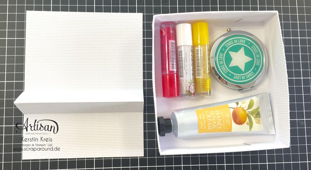 """Stampin´ Up! Artisan DesignTeam BlogHop 09.07.2015 Verpackung mit Wellpappe, Stempel """"Brushstrokes"""", Framelits """"Schmetterling"""" und Natur-Elemente """"Wortwörtlich"""" Detailbild10"""
