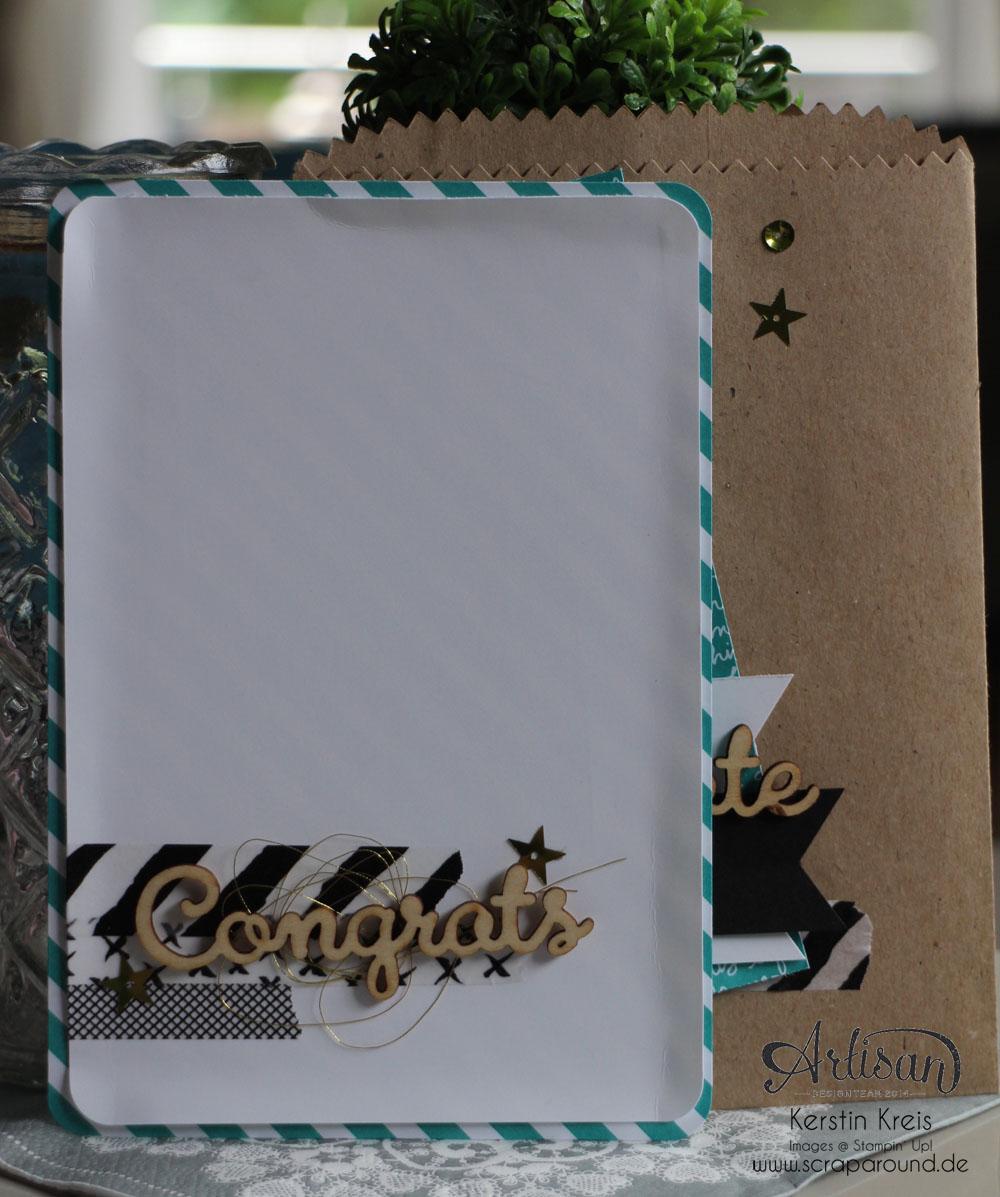 """Stamping & Blogging DT Sketch114 Giftbag mit Einsteck-Karte mit Designer-Papier im Set Signalfarben und Natur-Elemente """"Wortwörtlich"""" Detailbild02"""