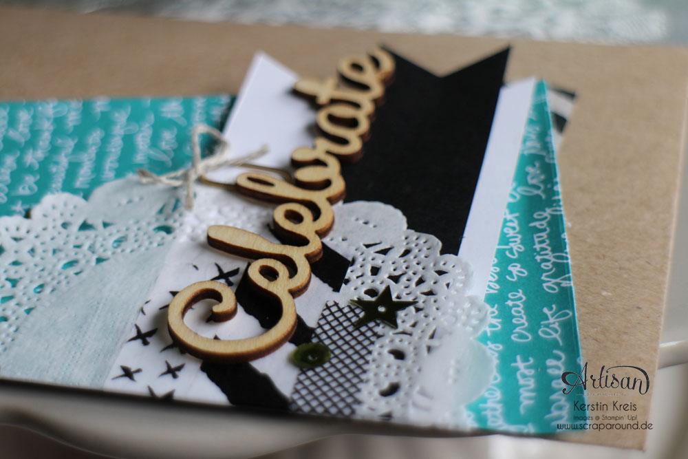 """Stamping & Blogging DT Sketch114 Giftbag mit Einsteck-Karte mit Designer-Papier im Set Signalfarben und Natur-Elemente """"Wortwörtlich"""" Detailbild04"""