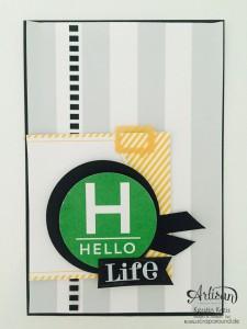 """Stamping & Blogging DT Sketch115 Karten ohne Stempel mit Projekt Life Karten-Kollektion und Zubehörpaket """"so ist das Leben""""  Karte 2"""