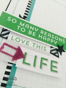 """Stamping & Blogging DT Sketch115 Karten ohne Stempel mit Projekt Life Karten-Kollektion und Zubehörpaket """"so ist das Leben""""  Karte 3 Detail"""