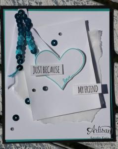 "Stamping & Blogging DT Sketch116 Karte mit Set ""You´re so sweet"" Detailbild2"