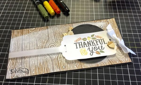 """Stampin´ Up! Artisan DesignTeam BlogHop 15.10.2015 Danke Karten mit Designerpapier """"Am Waldrand"""" und Stempelset """"thankful Forest Friends"""" Detailbild03"""
