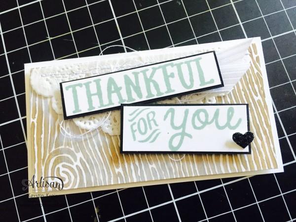 """Stampin´ Up! Artisan DesignTeam BlogHop 15.10.2015 Danke Karten mit Designerpapier """"Am Waldrand"""" und Stempelset """"thankful Forest Friends"""""""
