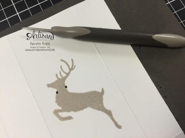 """Stampin´ Up! Artisan DesignTeam BlogHop 22.10.2015 Taschentuch-Verpackung mit Stempelset """"wahre Weihnachtsfreude"""" Detailbild06"""