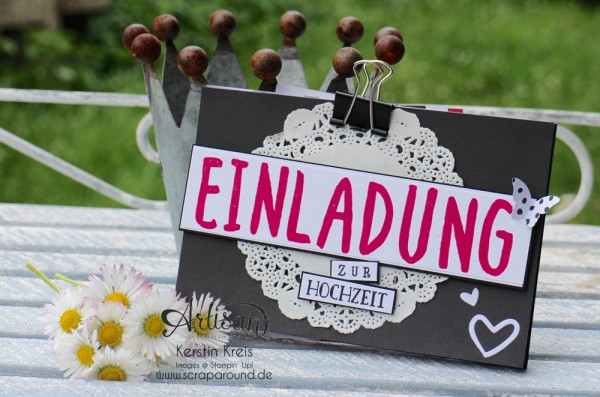Inspiration+Art BlogHop Einladung Hochzeit
