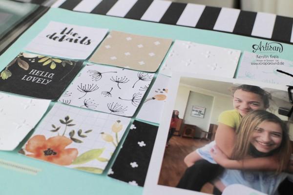 Layout Unzertrennlich mit Stampin´ Up! Project Life Karten-Kollektion Hallo Sonnenschein und Stempelset Brushwork Alphabet