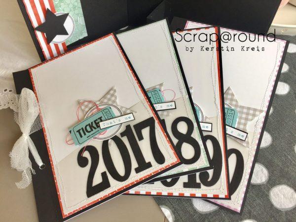 Stampin Up Crop im Pott Minialbum aus Graupappe mit Einschub und Designerpapier Sukkulentengarten kleine Alben
