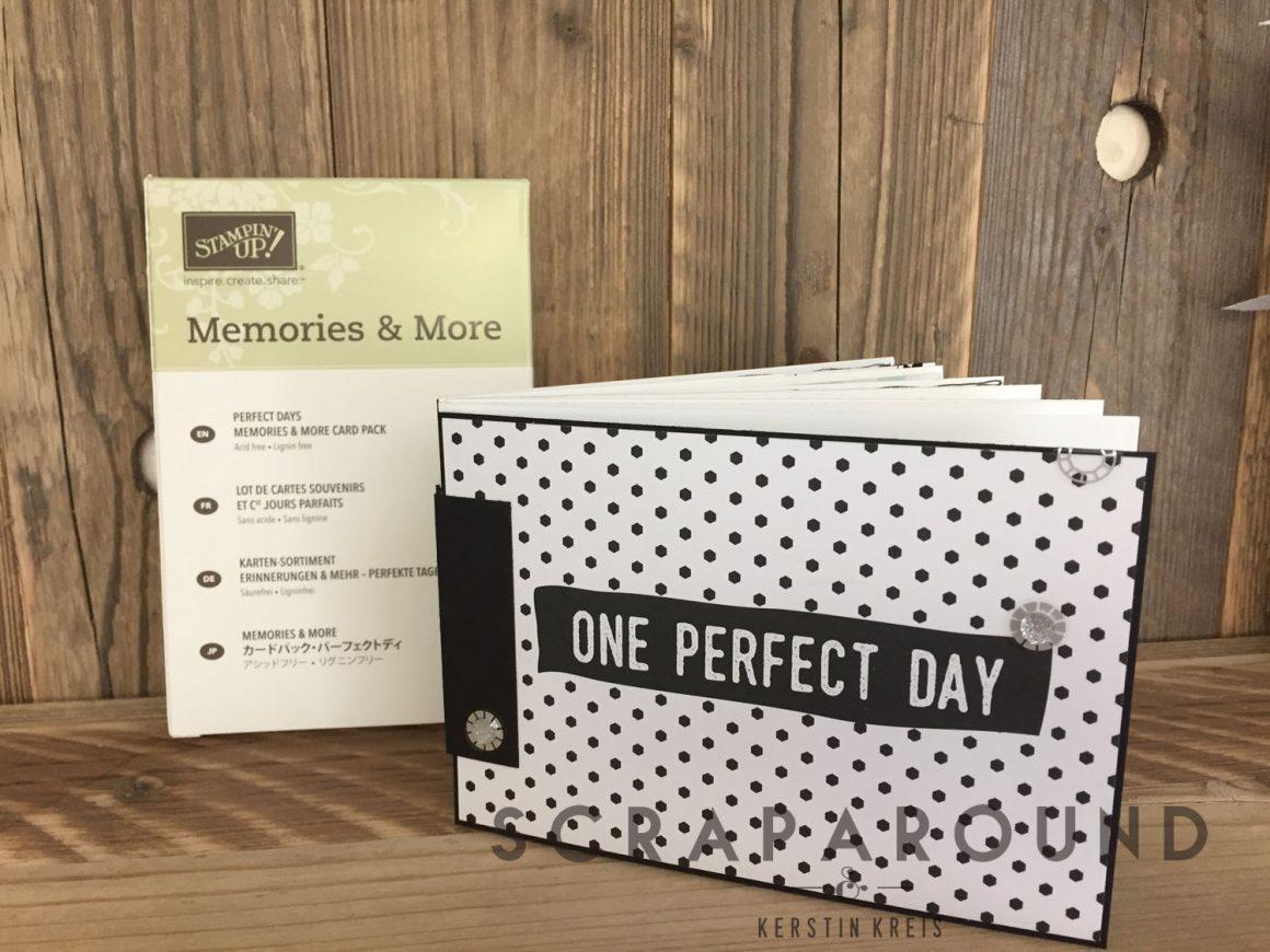 """Materialkit für das MiniAlbum """"Perfekte Tage"""" mit MiniAccordion Hinge Bindung"""