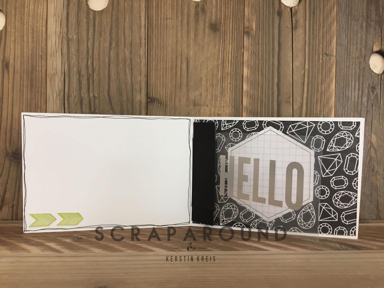 Stampin´Up! Minibook Memories&More Hingebindung 6