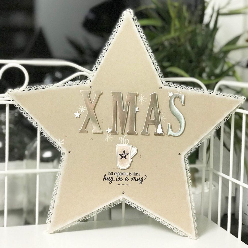 Stampin´Up! Weihnachten Deko Stempelset Hug in a Mug und Framelits große Buchstaben Variante2