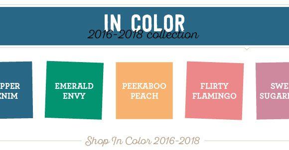 Auslaufende Farben InColor 2016-2018