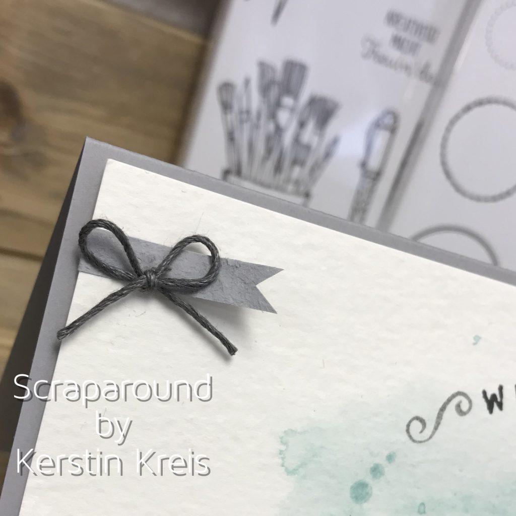 Stampin up Willkommenskarte neue Demo Stempelset Schönheit des Orient und Labeler Alphabet Detailbild2