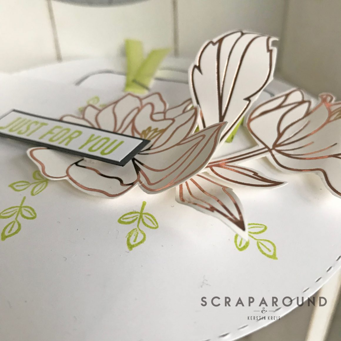 Blumen und runde Karten – stampstories BlogHop #3