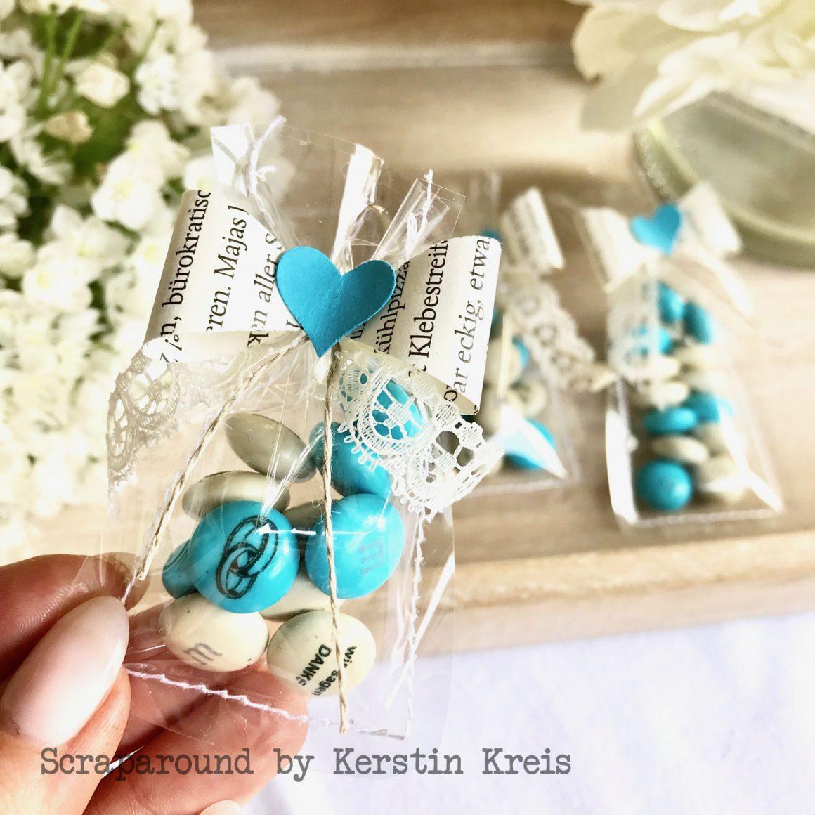 Hochzeits-Goodies mit personalisierten M&Ms