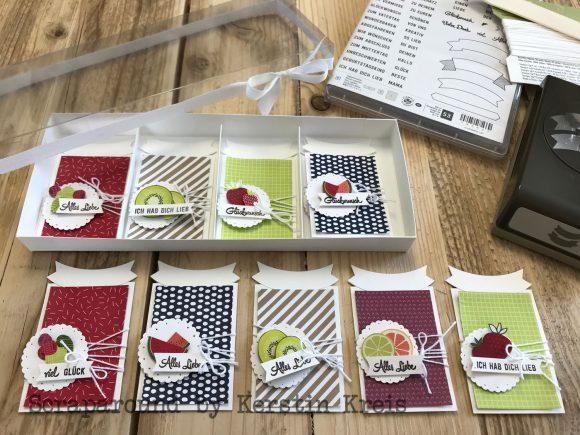 stampinup Geschenkanhaenger Tuttifrutti Designerpapier Glueckwunsch Banner Handstanze