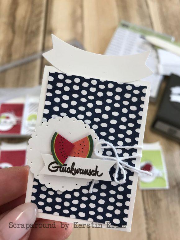 stampinup Geschenkanhaenger Tuttifrutti Designerpapier Glueckwunsch Banner Handstanze Detailbild 1