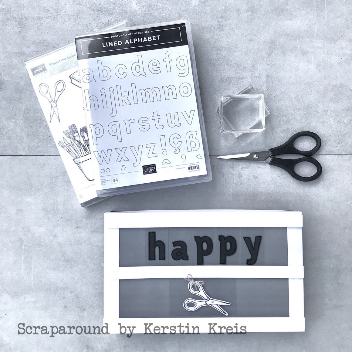 Lightbox aus Papier – stampstories Bloghop