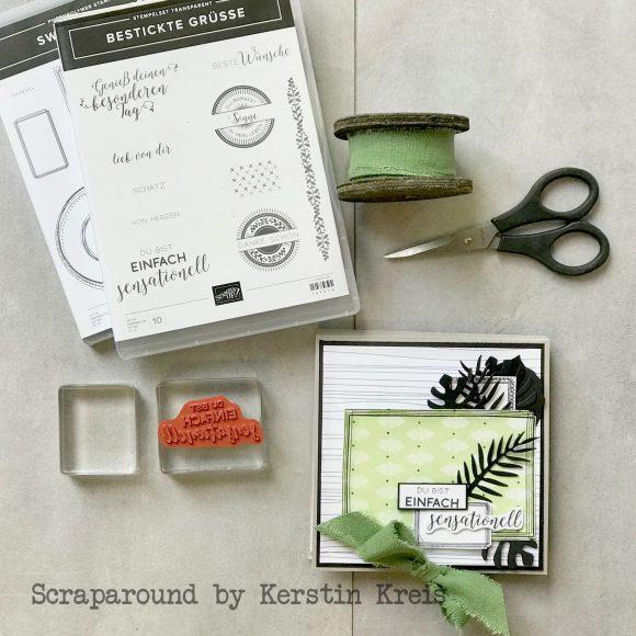 stampinup minialbum Klappkarte Palmengarten Tropenflair Stempel GDP143