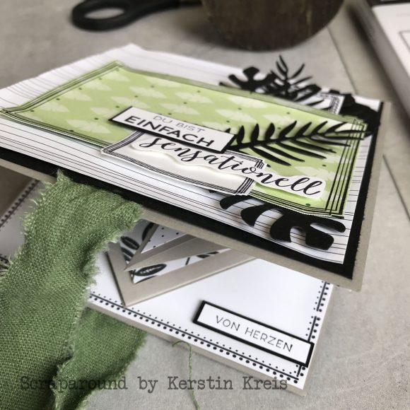 stampinup minialbum Klappkarte Palmengarten Tropenflair Stempel GDP143 Detailbild2