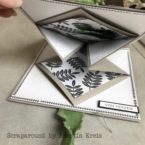 stampinup minialbum Klappkarte Palmengarten Tropenflair Stempel GDP143 Detailbild3