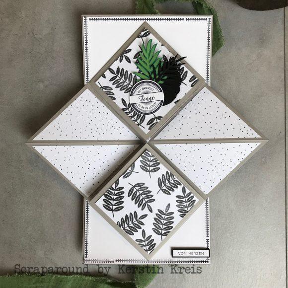 stampinup minialbum Klappkarte Palmengarten Tropenflair Stempel GDP143 Detailbild4