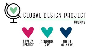 GDP149 Color Theme Kussrot Bermuda Marineblau Global Design Project