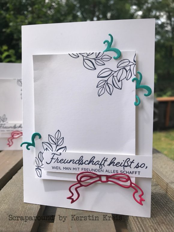 stampinup gdp149 Grußkarte Freundschaft Farbenfroh durchs Jahr Stiched Seasons Framelits Global Design Project Bild2