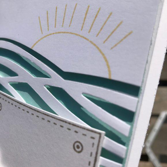 stampinup Karte Urlaub Fernweh Meer GDP151 Tasche voller Sonnenschein Brushwork Alphabet Stanzen Wunderbar verwickelt und Tasche Bild3