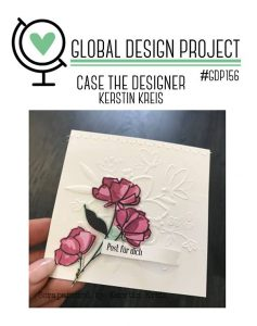 stampinup GDP156 CASE the Designer Global Design Project