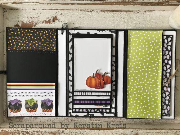 stampinup stampstories Minialbum Halloween Stempelset Hexenkessel Designerpapier wie verhext Detailbild05