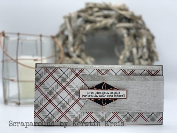 stampinup klappkarte gdp162 huettenromantik Designerpapier Stempelset Heiter bis weihnachtlich