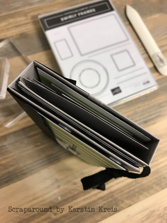stampinup online workshop minibook stempelset swirly frames designerpapier Broadway Detailbild1