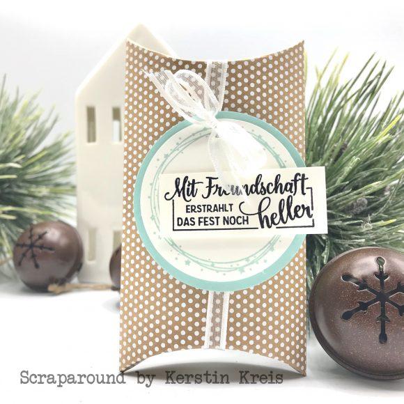 stampinup stampstories Pillowbox Karten Verpackung Stempel Leuchtende Weihnachten