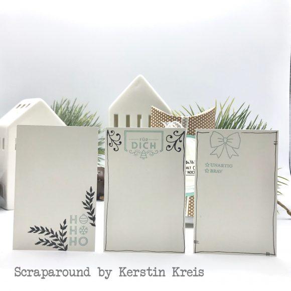 stampinup stampstories Pillowbox Karten Verpackung Stempel Leuchtende Weihnachten und Schöner Schenken