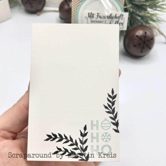 stampinup stampstories Pillowbox Karten Verpackung Stempel Leuchtende Weihnachten und Schöner Schenken Detailbild3