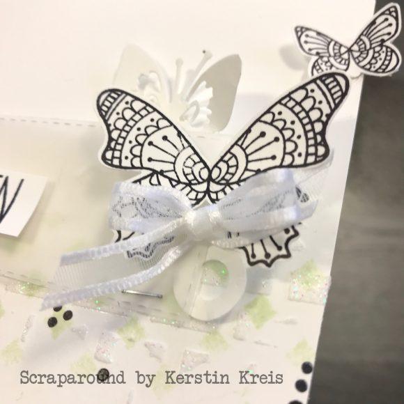 stampinup gdp174 Karte Mixed Media Schmetterling von Herzen Strukturpaste Schablone Detailbild3
