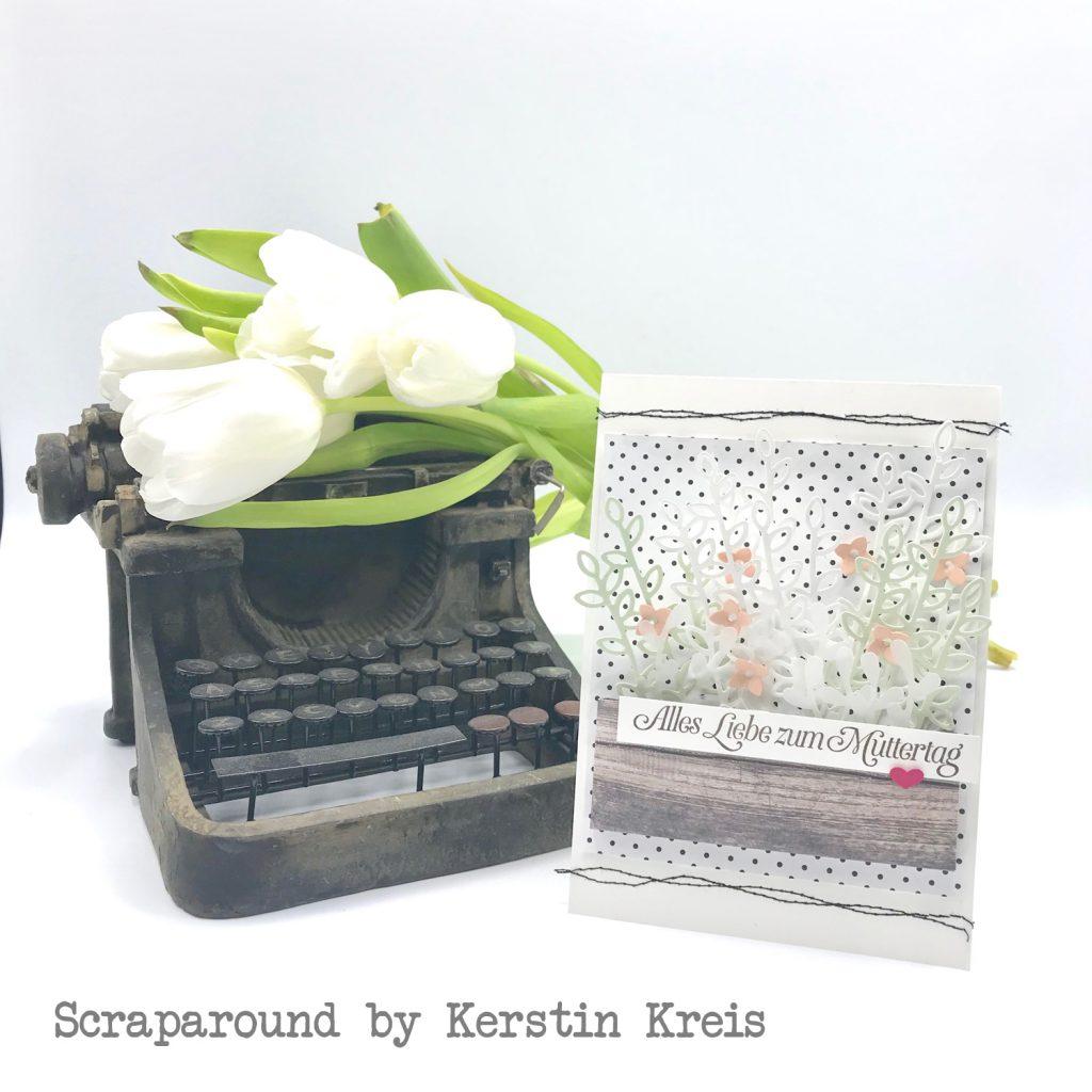 stampinup gdp175 Karte Muttertag Garten Blumen GlobalDesignProject Framelits schön geschrieben Stempelset wie ein Diamant Designerpapier Schmetterlingsvielfalt SAB2019 Detailbild1