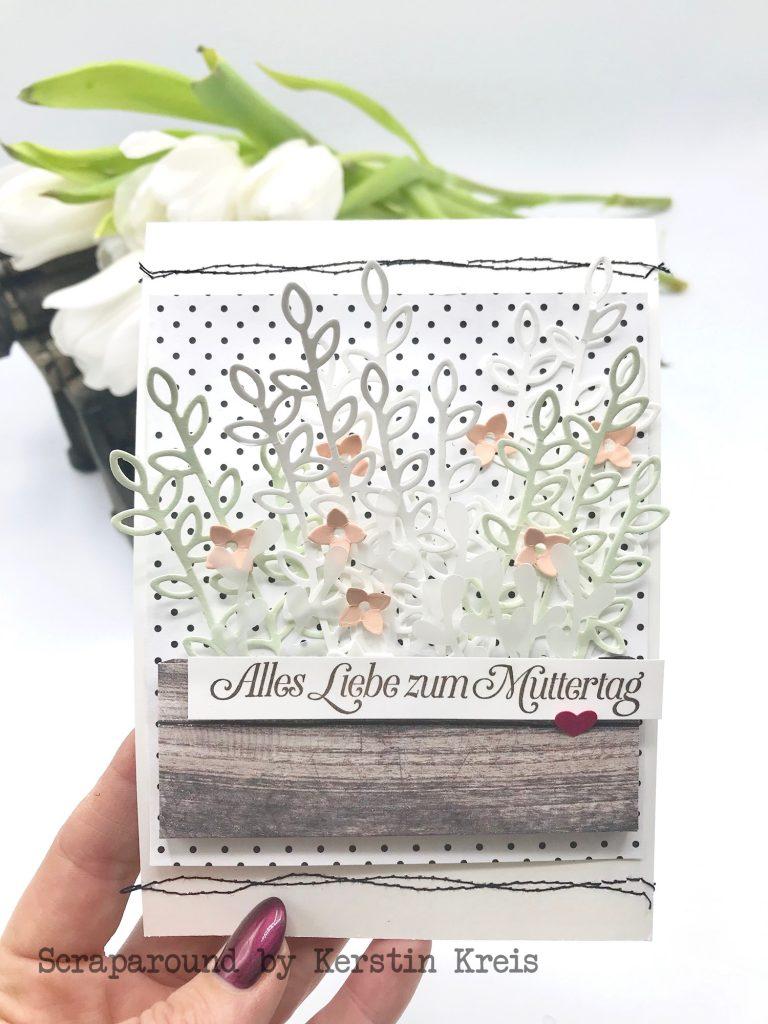 stampinup gdp175 Karte Muttertag Garten Blumen GlobalDesignProject Framelits schön geschrieben Stempelset wie ein Diamant Designerpapier Schmetterlingsvielfalt SAB2019 Detailbild2