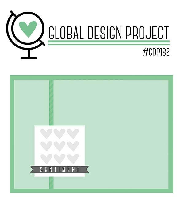 stampin up sketch gdp182 global design project