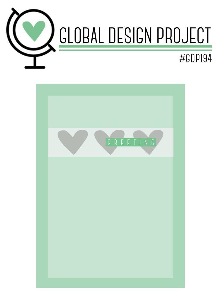 GDP194 Sketch stampin up Global design project