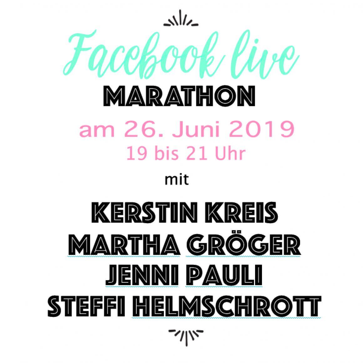 Einladung zum Facebook Live Marathon
