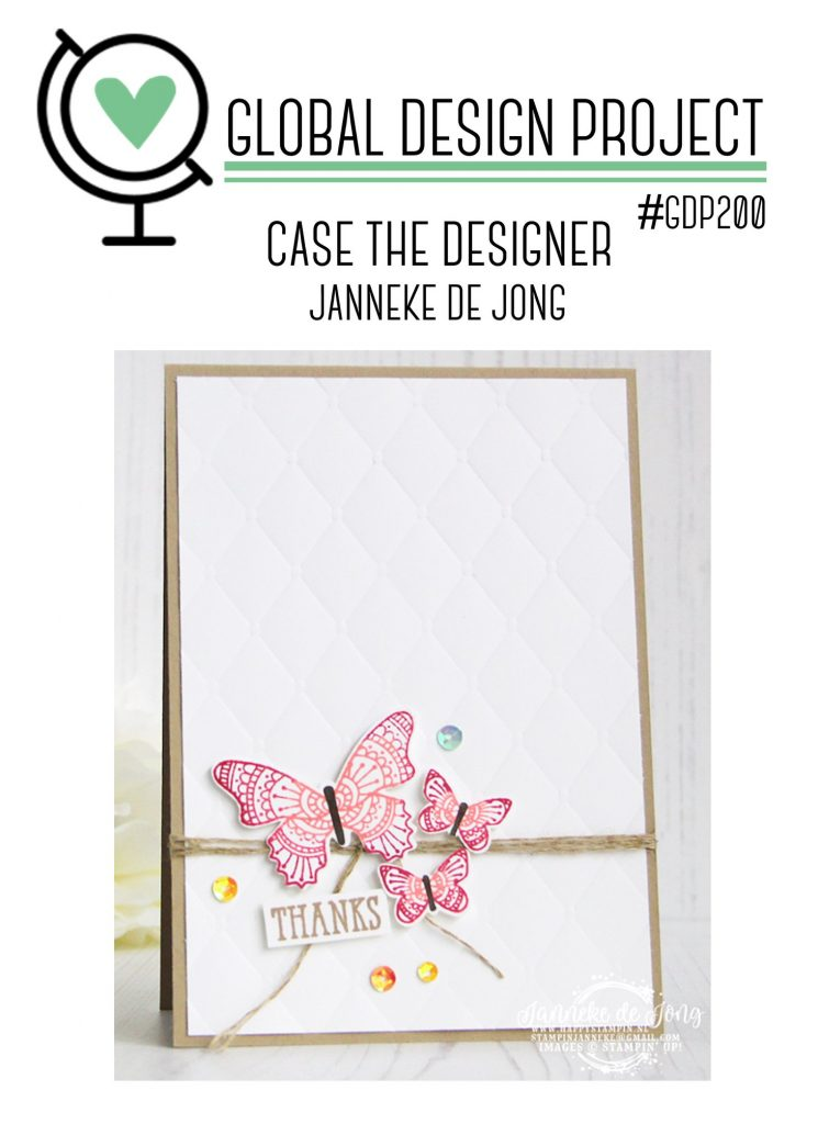 stampinup GDP200 CASE the Designer Global Design Project