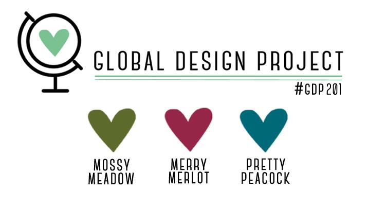 stampin up global design project color GDP201