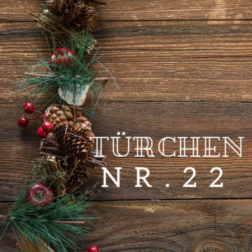 Türchen Nr. 22 – Adventskalender 2019