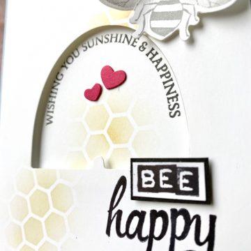 """Ziehkarte """"Bee Happy"""" – GDP#230 Global Design Projekt"""