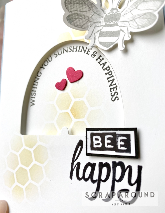 "Ziehkarte ""Bee Happy"" – GDP#230 Global Design Projekt"